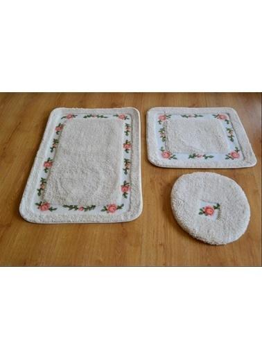 Giz Home Gül Klozet Takımı Kare 3'Lü 60X100 Beyaz Beyaz